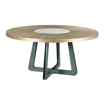 American Drew Concentric Round Dining Table Complete