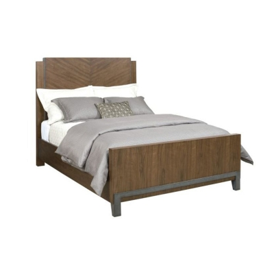 American Drew Chevron Walnut California King Bed Package