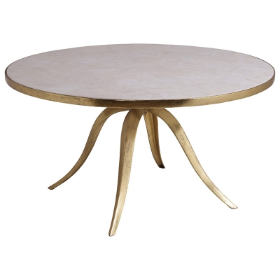 Artistica Home Stone Round Cocktail Table