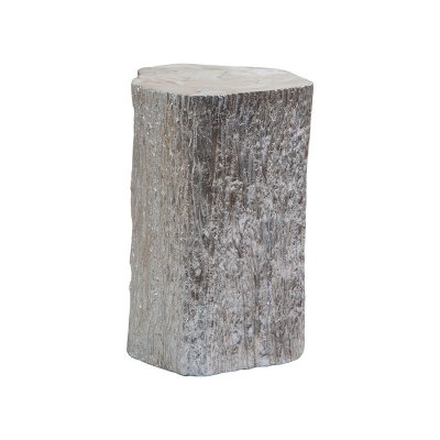 Artistica Home Segment Accent Table Silver Leaf