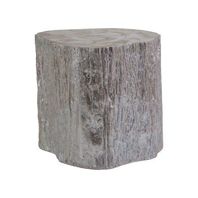 Artistica Home Segment Side Table Silver Leaf