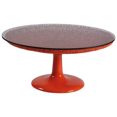 Artistica Home Round Orange Cocktail Table