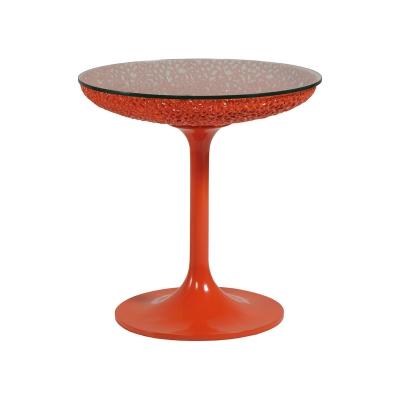 Artistica Home Round Orange Spot Table