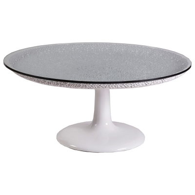 Artistica Home Round White Cocktail Table