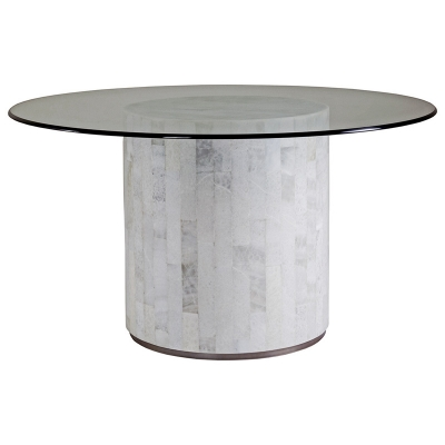 Artistica Home Round Dining Table with Glass Top