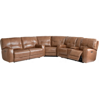 Bassett 3715 Club Level Conway Motion Leather Sectional ...