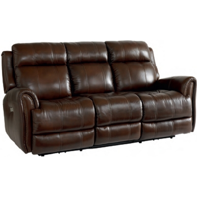 Bassett 3707 P62c Club Level Marquee Leather Motion Sofa