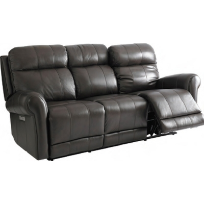 Bassett Everest Leather Motion Sofa with Power