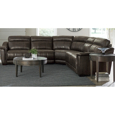 Bassett Sheffield Leather Sectional