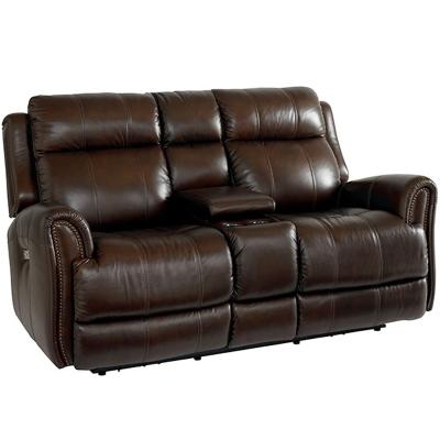 Bassett Marquee Leather Loveseat
