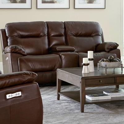 Bassett Epic Leather Loveseat