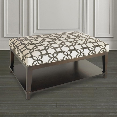 Bassett Rectangle Ottoman with Shelf