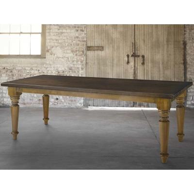 Bassett 4015 4290 Bench Made 90 Inch Farmhouse Table
