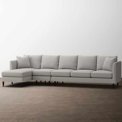 Bassett Ariana 3 Piece Left Chaise Sectional