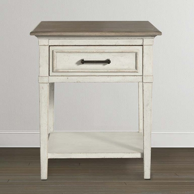 Bassett Wood Top Bedside Table