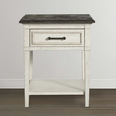 Bassett Stone Top Bedside Table