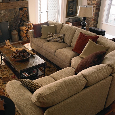 Bassett 5000 Ccsectf Custom Upholstery Manor Curved Corner