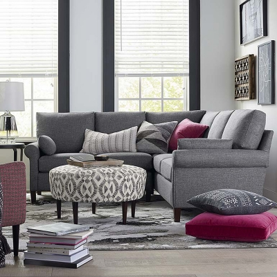Bassett Larkin Small L Shaped Sectional