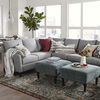 Bassett Lindsey Large L Shaped Sectional