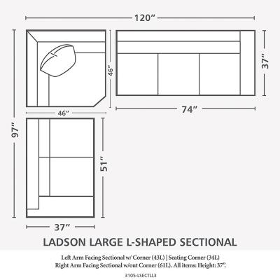 Bassett Large L Shaped Sectional