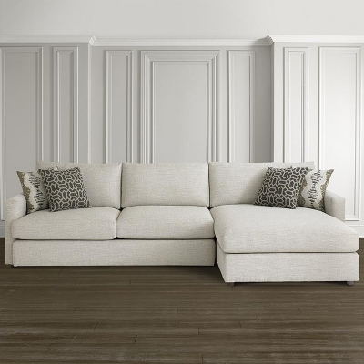 Bassett 2611 Rcsect Allure Right Chaise Sectional Discount Furniture At Hickory Park Furniture Galleries