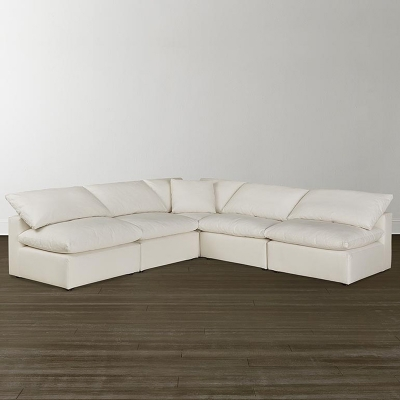 Bassett Armless L Shaped Sectional