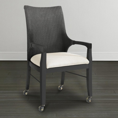 Bassett Woven Loom Arm Chair with Casters