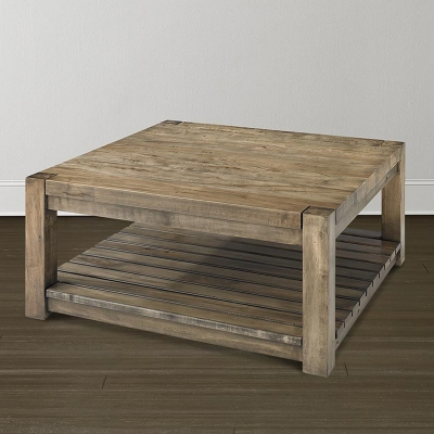 Bassett 6015 0615p Bench Made Hampton Square Cocktail Table Discount Furniture At Hickory Park