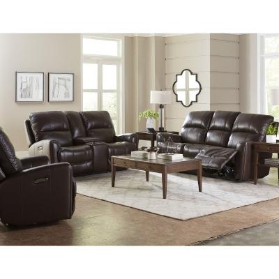 Bassett 3711 Club Level Avon Leather Sofa Discount