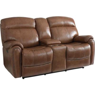 Bassett Bridgeport Motion Sofa with Power Shown in Umber