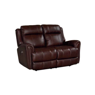 Bassett Marquee Motion Loveseat with Power shown in Chocolate