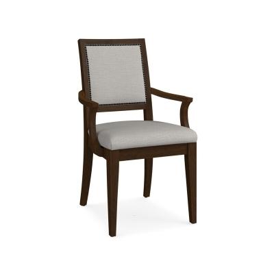 Bassett Square X Back Upholstered Arm Chair