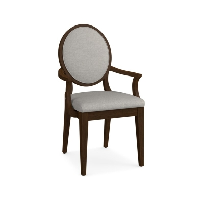 Bassett Oval X Back Upholstered Arm Chair