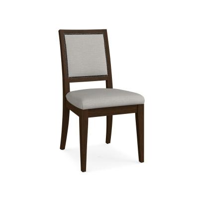 Bassett Square X Back Upholstered Side Chair