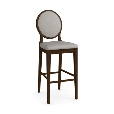 Bassett Oval X Back Upholstered Bar Stool