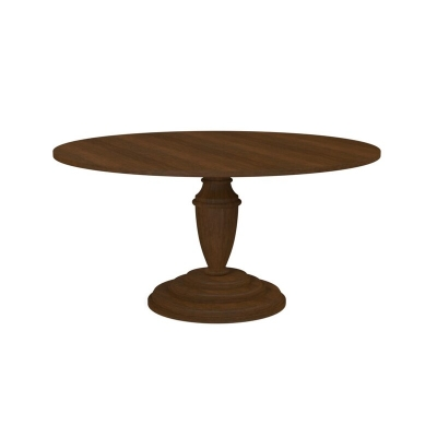 Bassett 60 inch Turned Pedestal Wood Dining Table