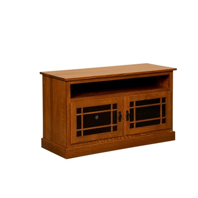 Borkholder Mission TV Stand with opening