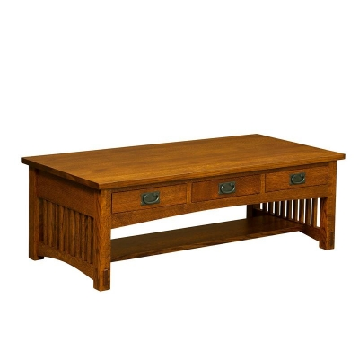 Borkholder 3 Drawer Coffee Table