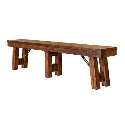 Borkholder Heflin Bench with 2 18 inch leaves