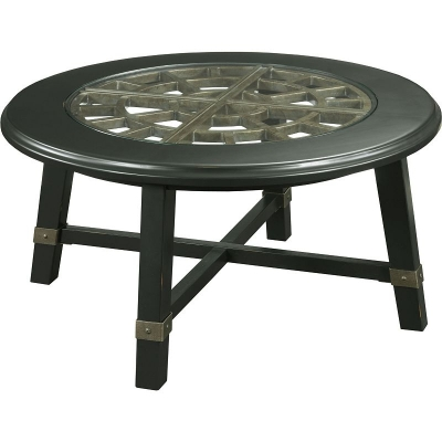 Broyhill Round Grid Cocktail Table