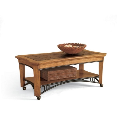 Broyhill Rectangular Drawer Cocktail Table with casters