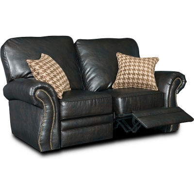 Broyhill Leather or Performance Leather Reclining Loveseat Power