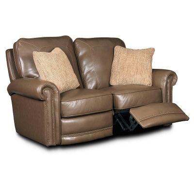 Broyhill Leather or Performance Leather Reclining Loveseat Manual