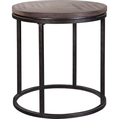 Broyhill St Johns Place Round Lamp Table Wood Top
