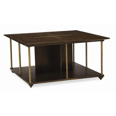 Caracole Brass Axis Cocktail Table