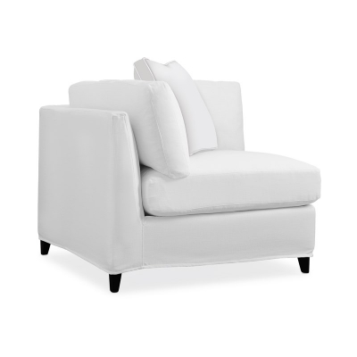 Caracole Slip One On Corner Muslin Base Only Sectional