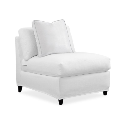 Caracole Slip One On Armless Chair Slip Cover Only Sectional