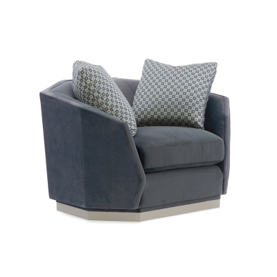Caracole Swivel Chair and a half