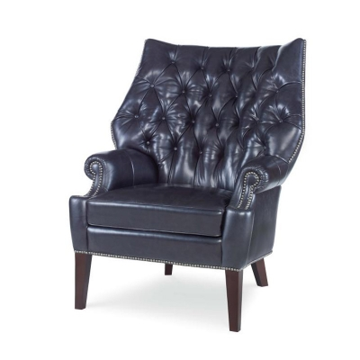 Century Leather Tufted Chair