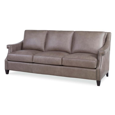 Century Transitional Leather Sofa